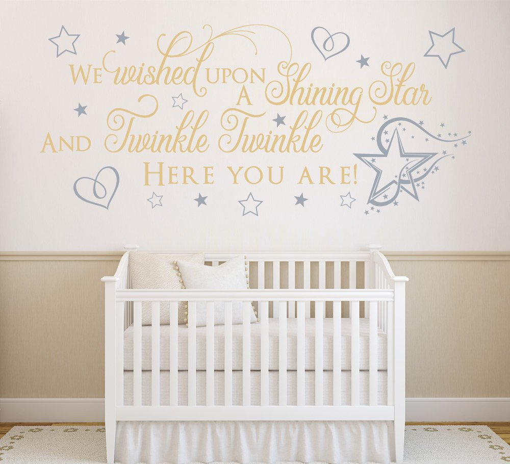 We Wished Upon A Shining Star Wall Sticker