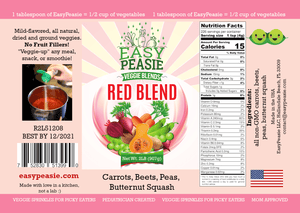 EasyPeasie Veggies, Red Blend, 2LB Eco-Size