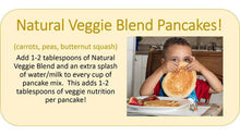 Recipe - EasyPeasie Natural Veggie Blend (carrots, peas, squash) and Pancakes