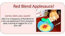 Recipe - EasyPeasie Red Blend (carrots, peas, beets, squash) and Applesauce