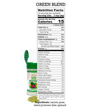 Nutrition Label for Green Blend, EasyPeasie Dried and Ground Vegetables