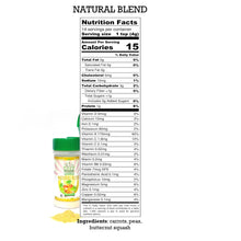 Nutrition Label for Natural Blend, EasyPeasie Dried and Ground Vegetables