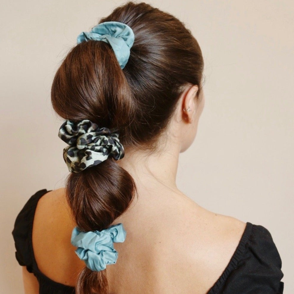 Garden of Eden Satin Scrunchie
