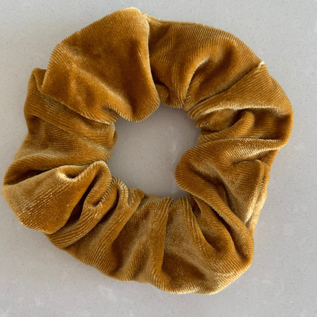 Burnt Butter Velvet Scrunchie - Medium