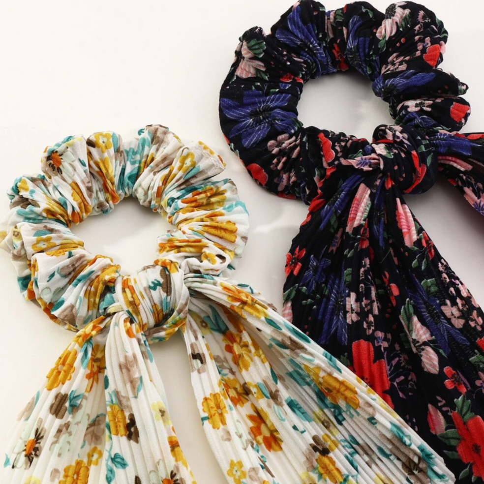 Folk Song Scarf Scrunchie
