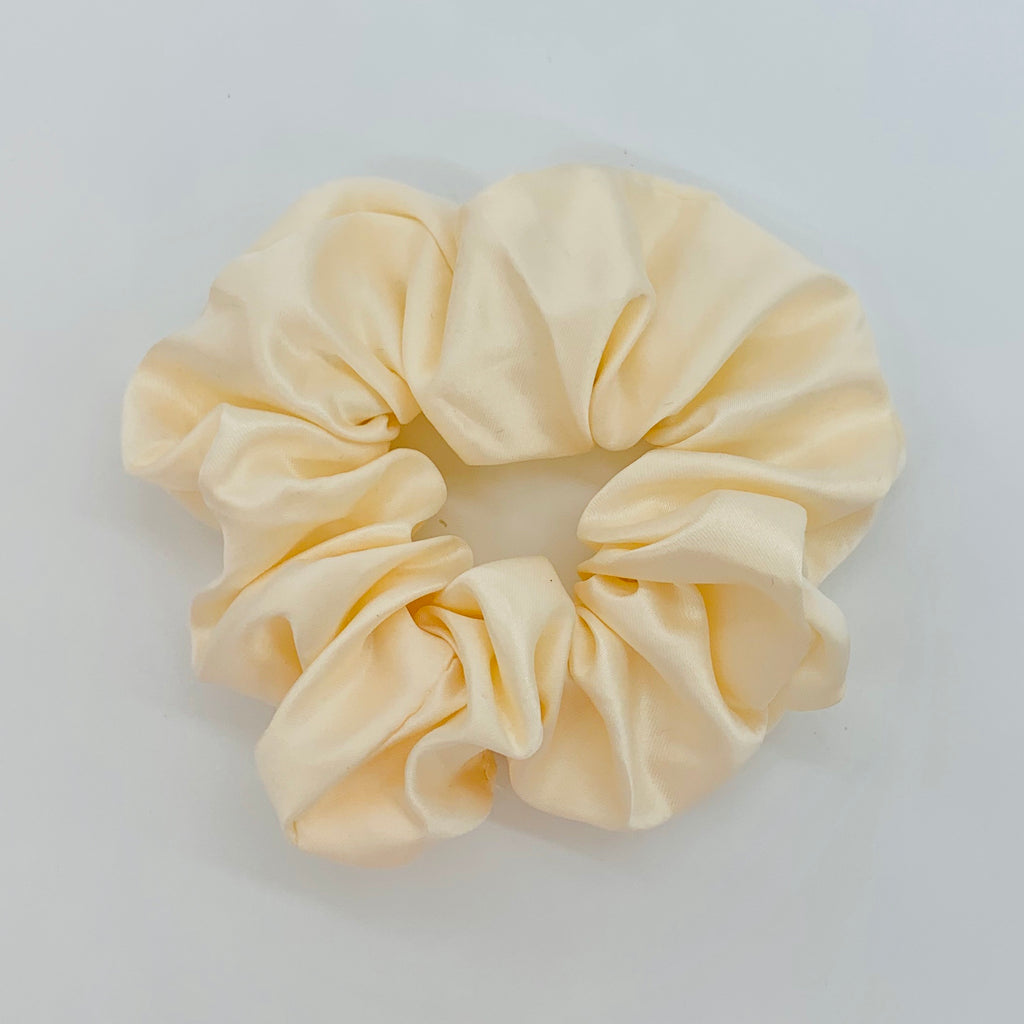 Cream Sleep Satin Scrunchie
