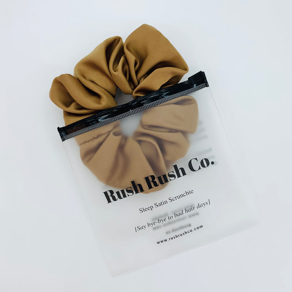 Toffee Sleep Satin Scrunchie