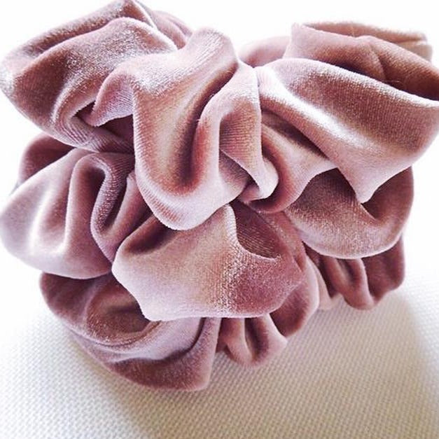 Mulberry Velvet Scrunchie - Large