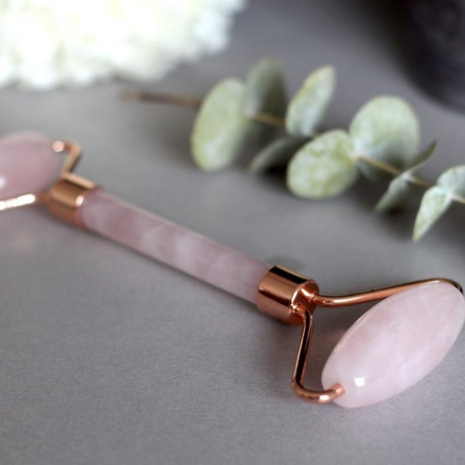 Gua Sha Rose Quartz Facial Roller
