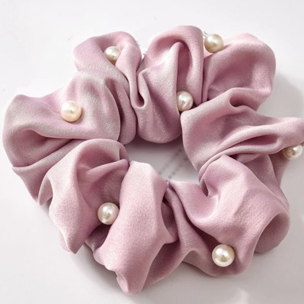 Diamonds & Pearls Scrunchie (5 colours)