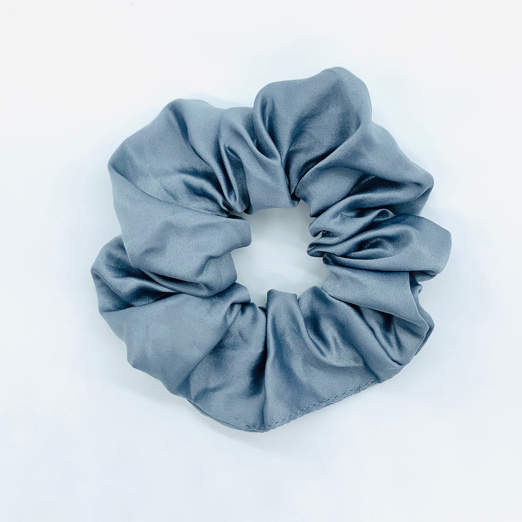 Stormy Blue Sleep Satin Scrunchie