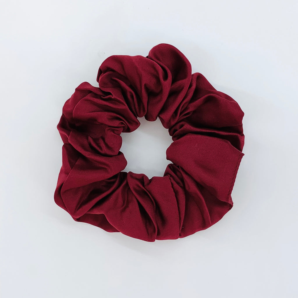 Wine Red Sleep Satin Scrunchie
