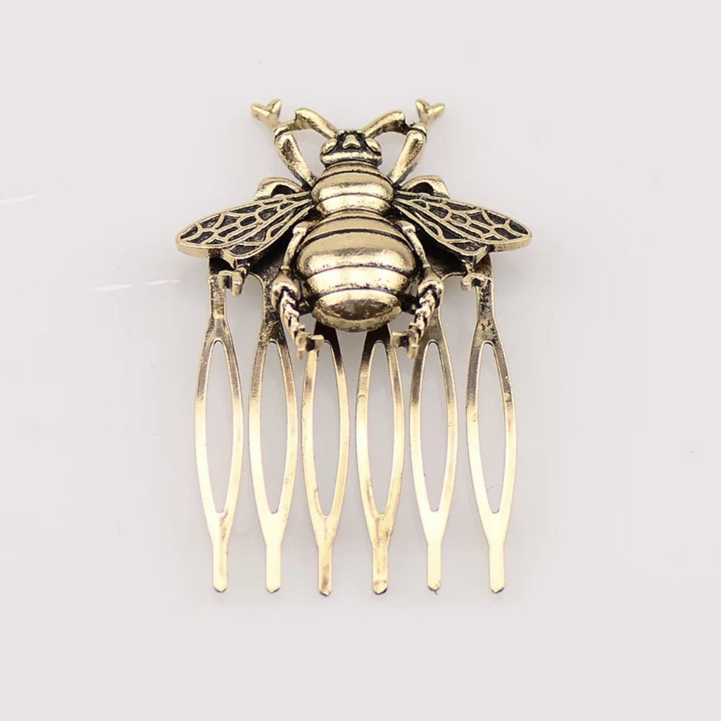 Golden Bee Hair Comb Set