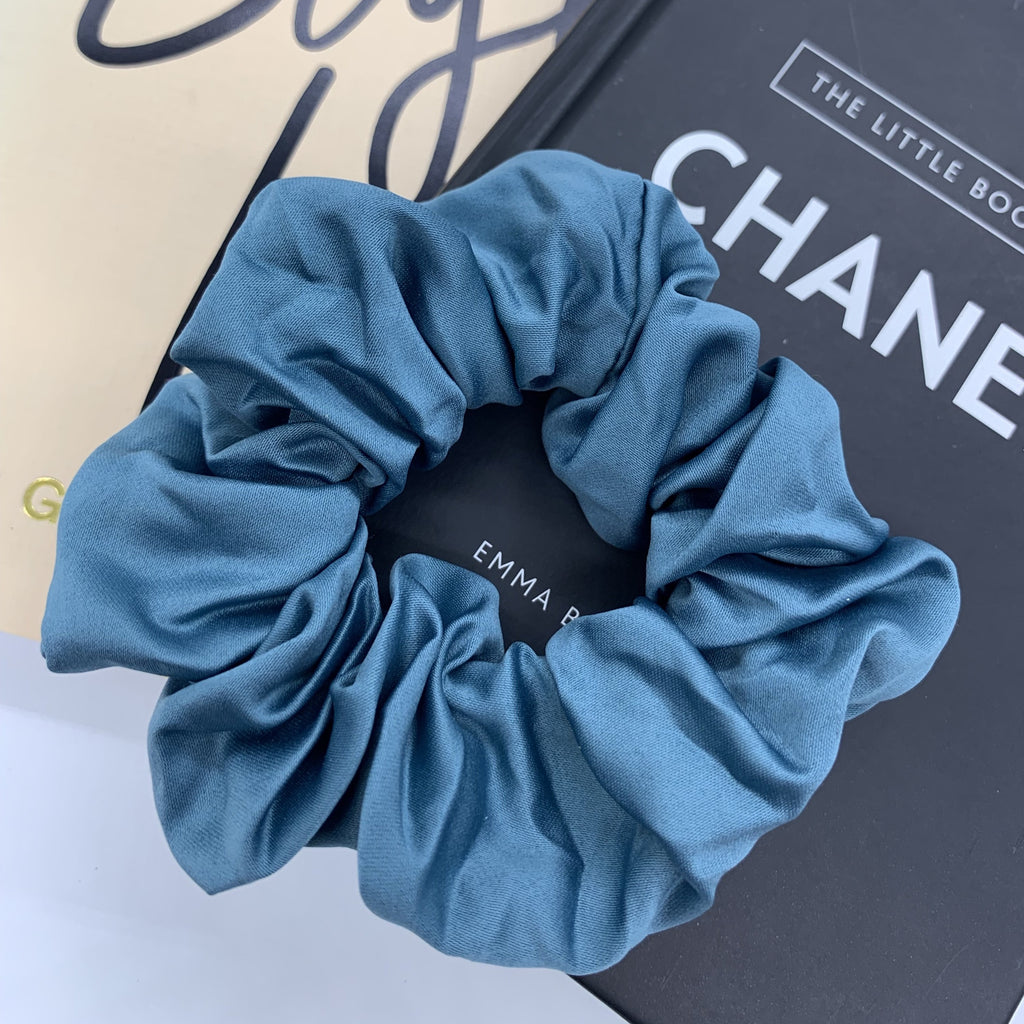 Aquamarine Sleep Satin Scrunchie