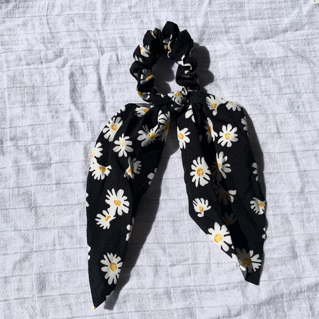 Flower Power Scarf Scrunchie