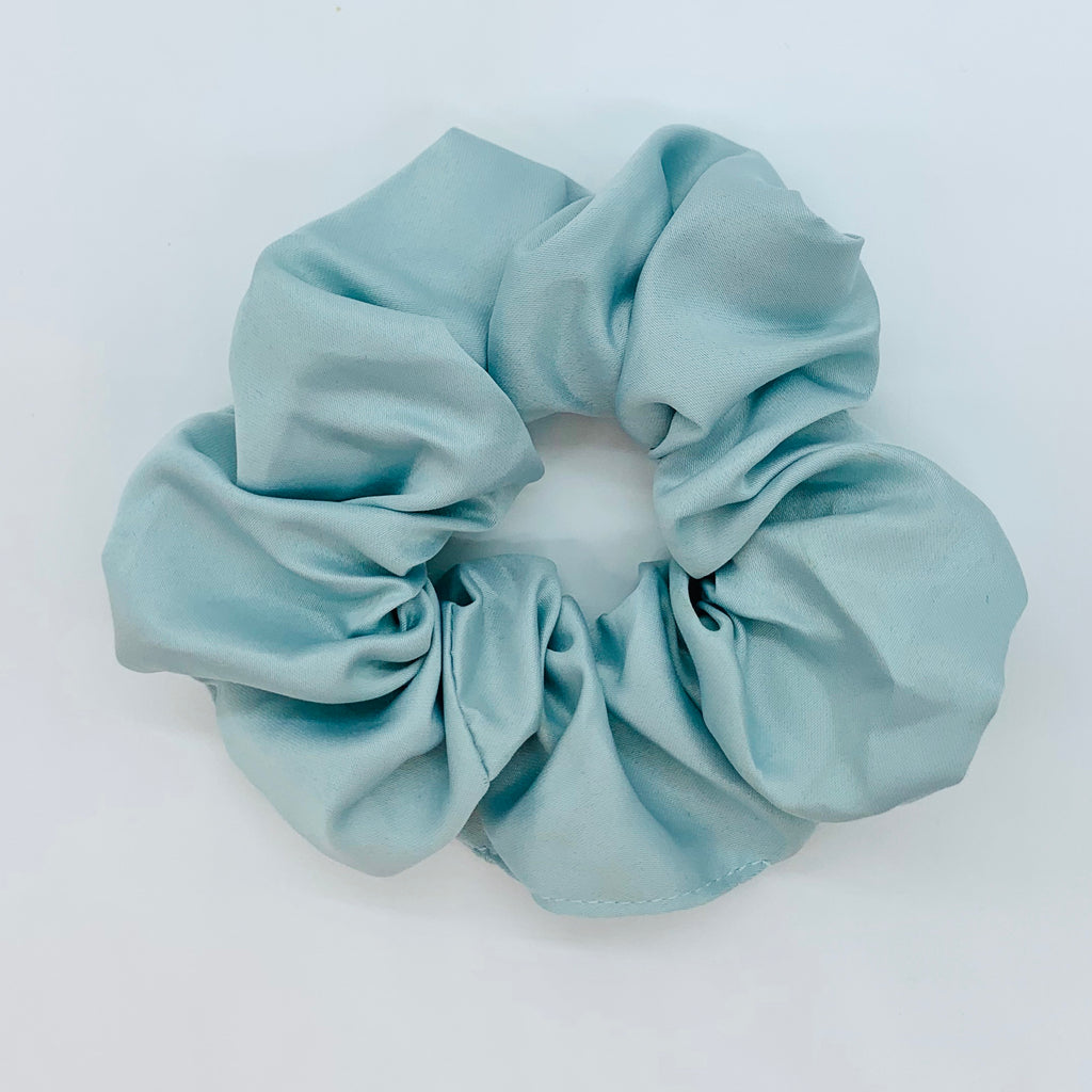Sea Mist Sleep Satin Scrunchie