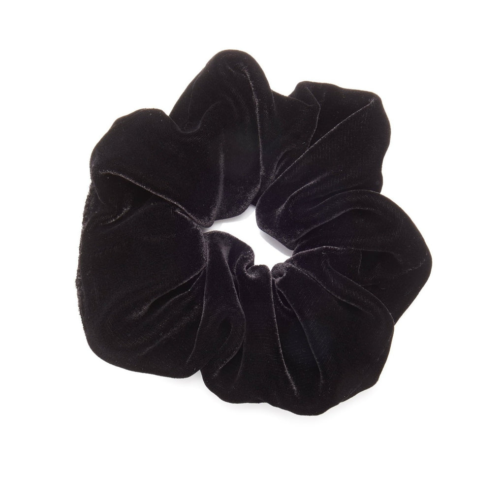 Black Velvet Scrunchie - Large