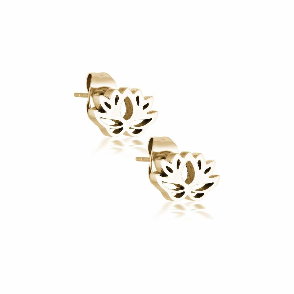 Lotus Flower Studs - Aaina & Co.