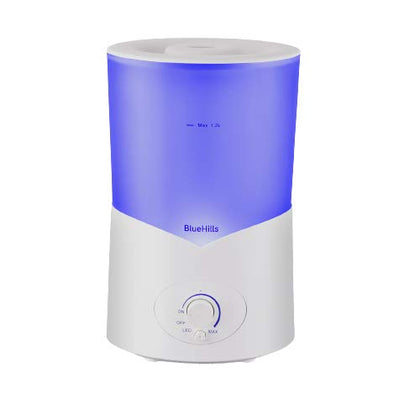 BlueHills Large 1000 ML XL Essential Oil Diffuser White Aroma Humidifier 1 Liter Capacity for Big Living Room Home Baby Long Run XL Huge Coverage Area High Mist 1L A1
