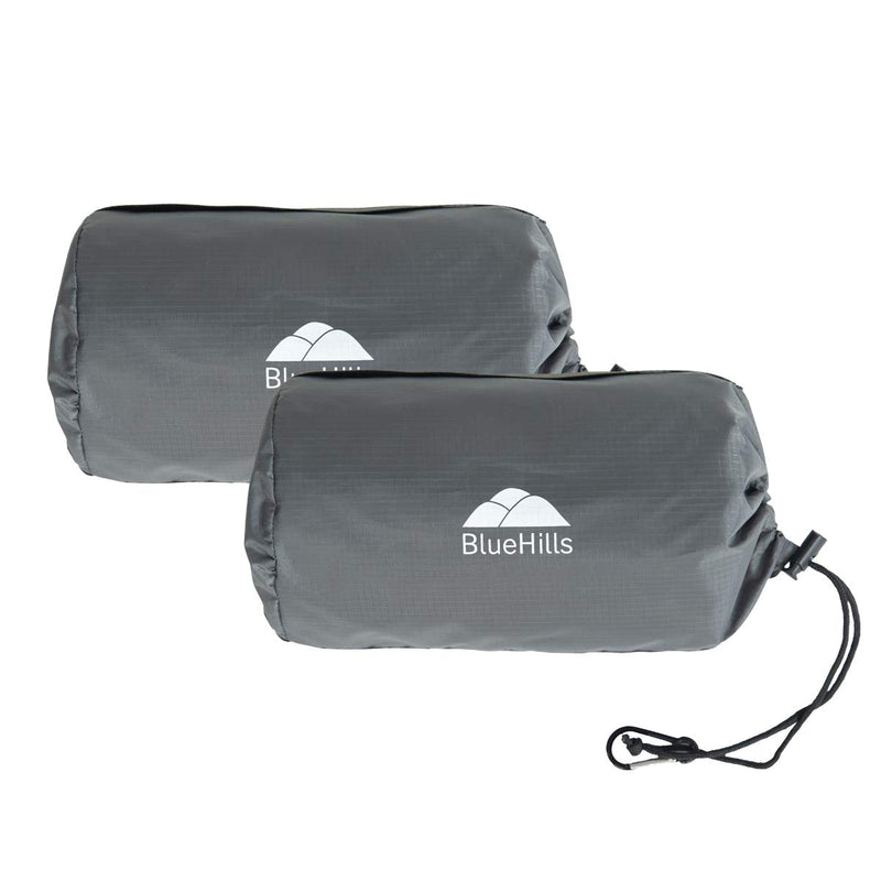 BlueHills Ultra Compact Travel Blanket 2 Pack - Gray