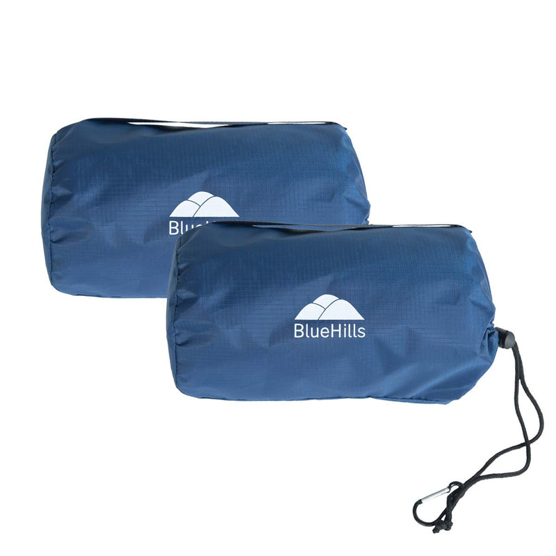 BlueHills Ultra Compact Travel Blanket 2 Pack - Navy