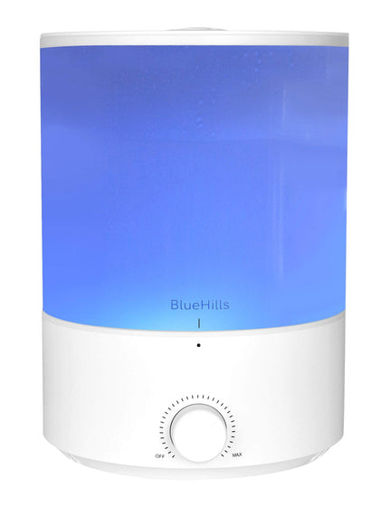 BlueHills Premium 4000 ml XL Essential Oil Diffuser 4L 4 Liter 70 hour run Humidifier Aromatherapy 1 Gallon Big Capacity High Mist Output for Large Room Home Mood Lights WhiteE401