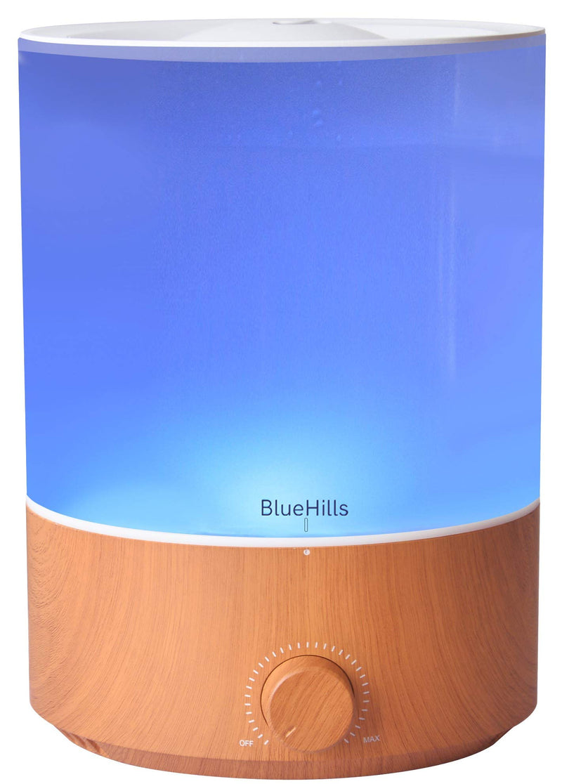 BlueHills 4000 ML Premium Essential Oil Diffuser Humidifier Extra Large Capacity - Light Wood Grain