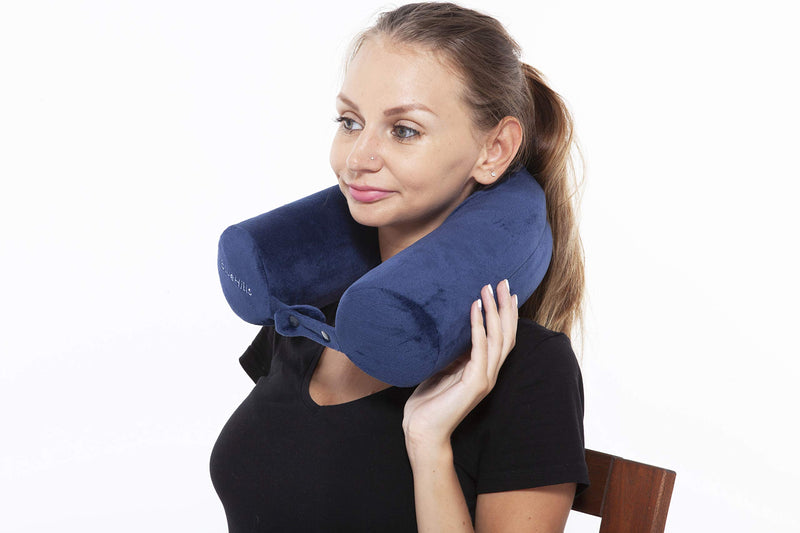 BlueHills Premium Neck Travel Twist Pillow -Navy