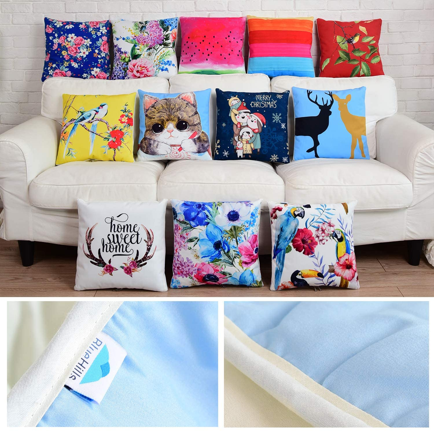 Decorative Couch Pillow Blanket Throw Quilt for Home, Travel and Camping - Convertible