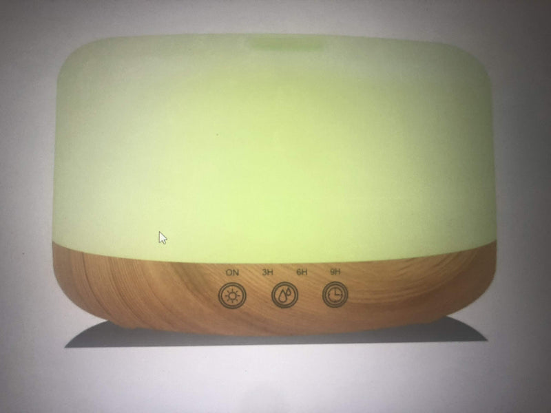 BlueHills 1000 ML Premium Essential Oil Diffuser with Remote and Timer Large Capacity - Wood Grain