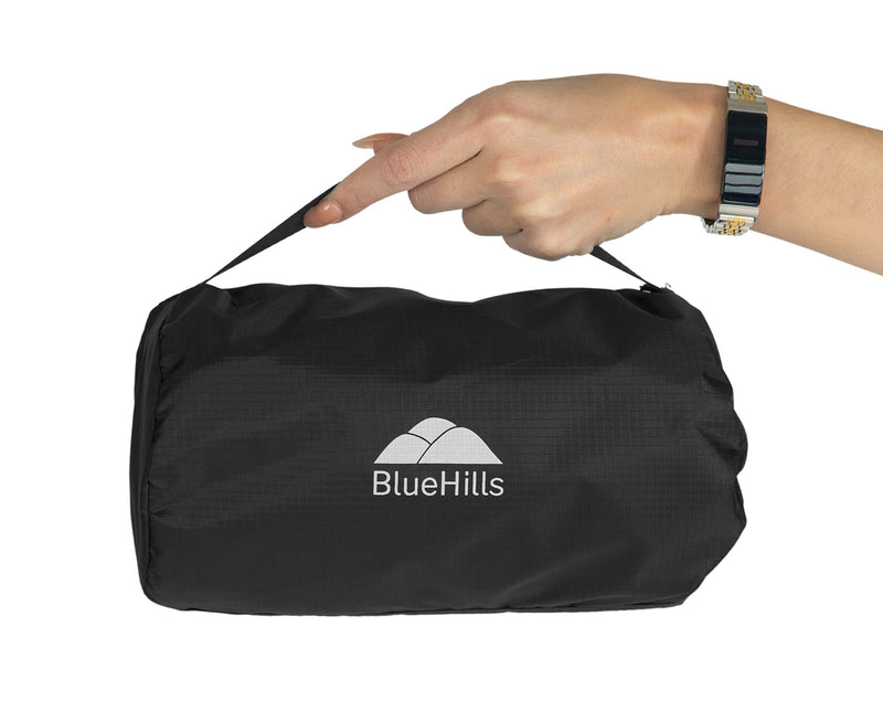 BlueHills Ultra Compact Travel Blanket - Black