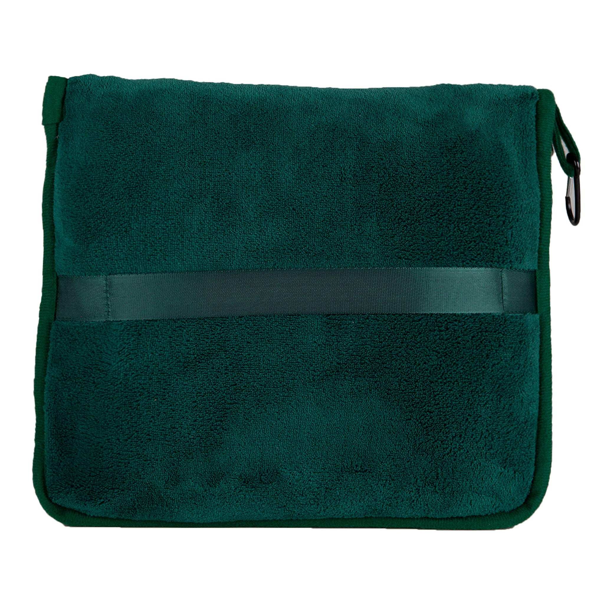 BlueHills Premium Soft Travel Blanket Pillow Airplane Flight Blanket Throw in Soft Bag Pillow case with Hand Luggage Belt & Backpack Clip Compact Pack Large Blanket for Travel Green (Dark Green T010)