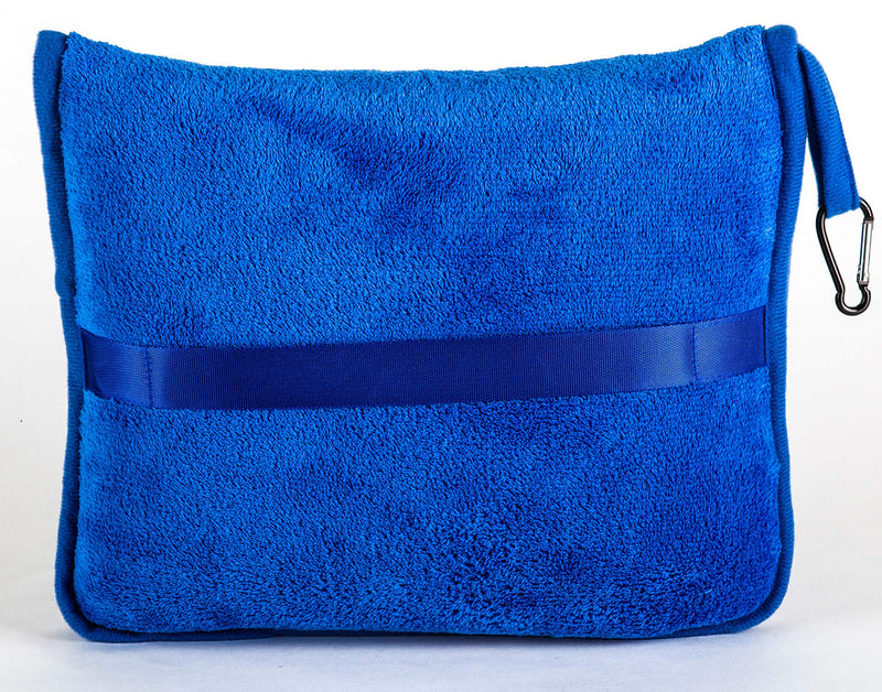 BlueHills Premium Soft Travel blanket pillow - Royal Blue