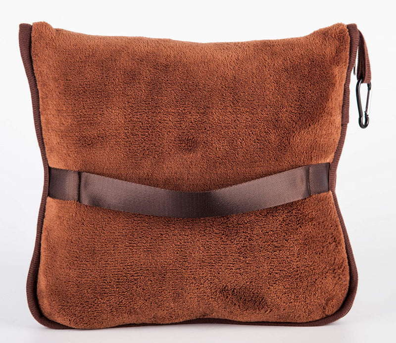 BlueHills Premium Soft Travel blanket pillow - Brown