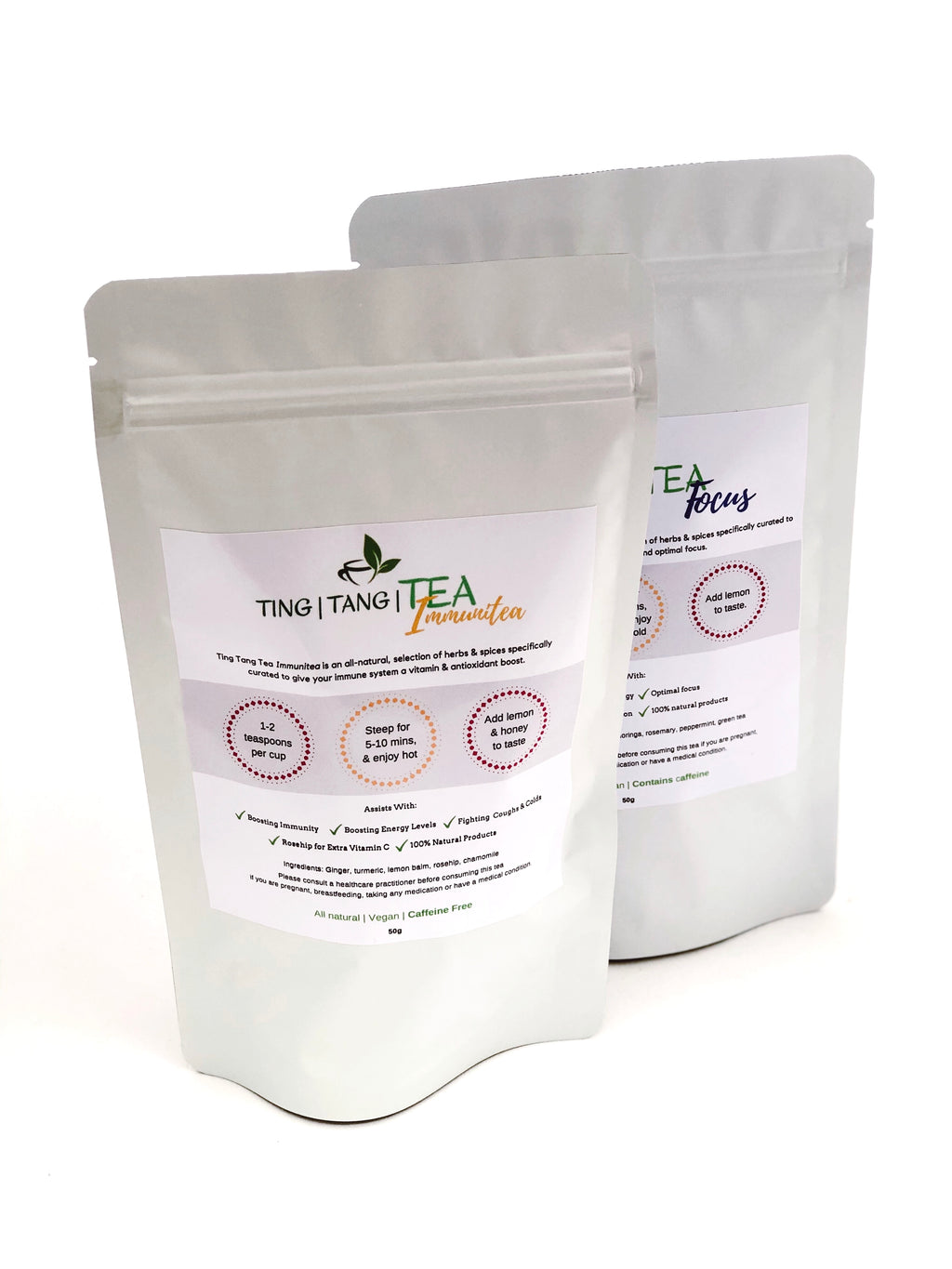 Work From Home Combo: Ting Tang Tea Focus & Immuni-tea