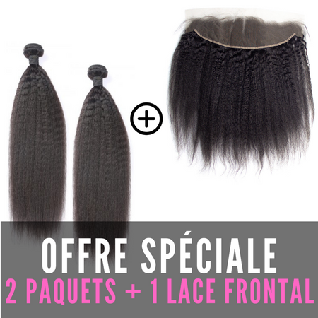 TISSAGES & LACE FRONTAL - AFRO LISSE