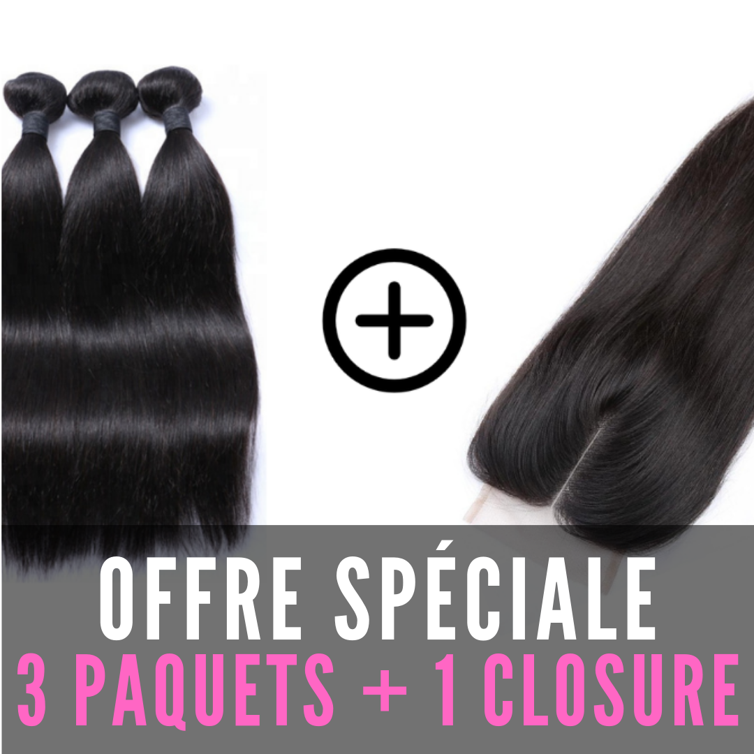 TISSAGES & CLOSURE 4X4 - LISSE