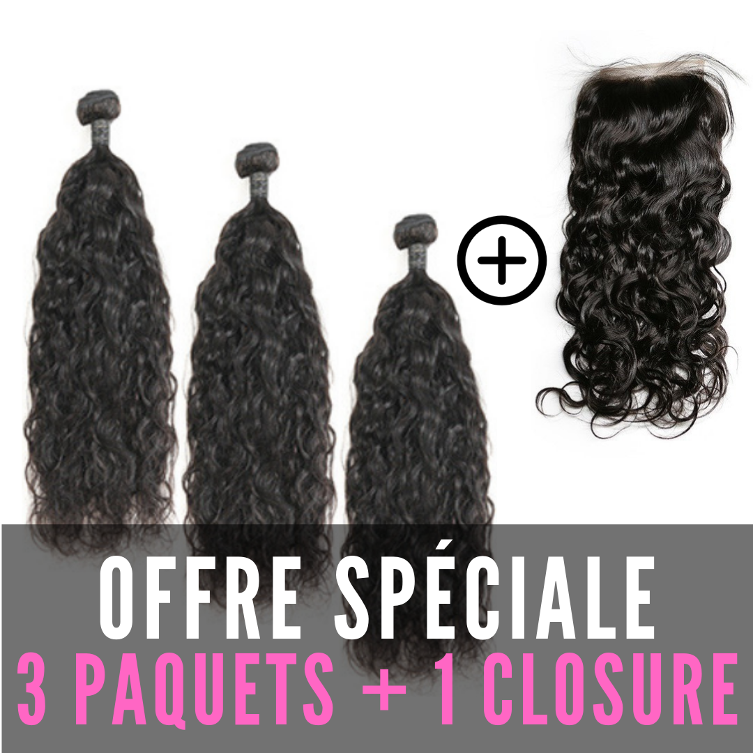 TISSAGES & CLOSURE 4X4 - ONDULATIONS NATURELLES