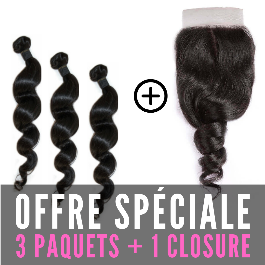 TISSAGES & CLOSURE 4X4 - ONDULÉ