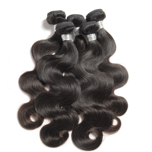 FULL SET 3 PAQUETS BRÉSILIENS REMY BODY WAVE 100% CHEVEUX NATUREL + CLOSURE  4X4 FREE STYLE