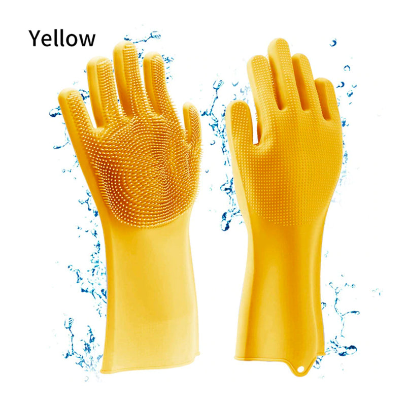 Scrubbing Dishwashing Gloves