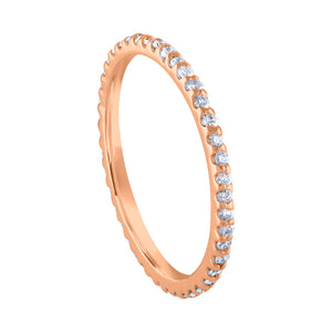 Pavé Eternity Band - Rose Gold