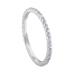 Pavé Eternity Band - White Gold