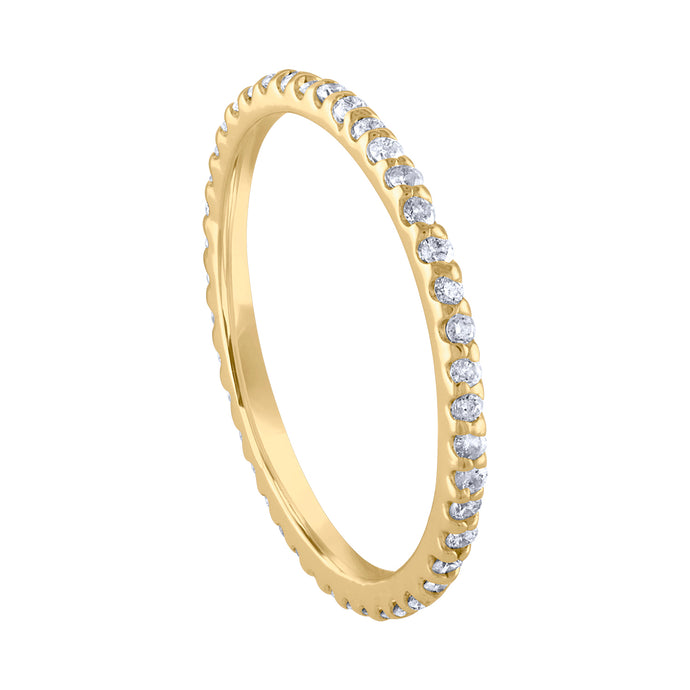 Pavé Eternity Band - Yellow Gold