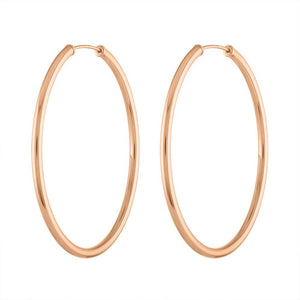 Classic Gold Hoops -  Gold