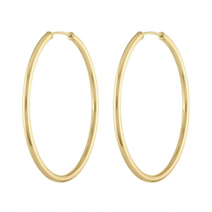 Classic Gold Hoops - Yellow Gold