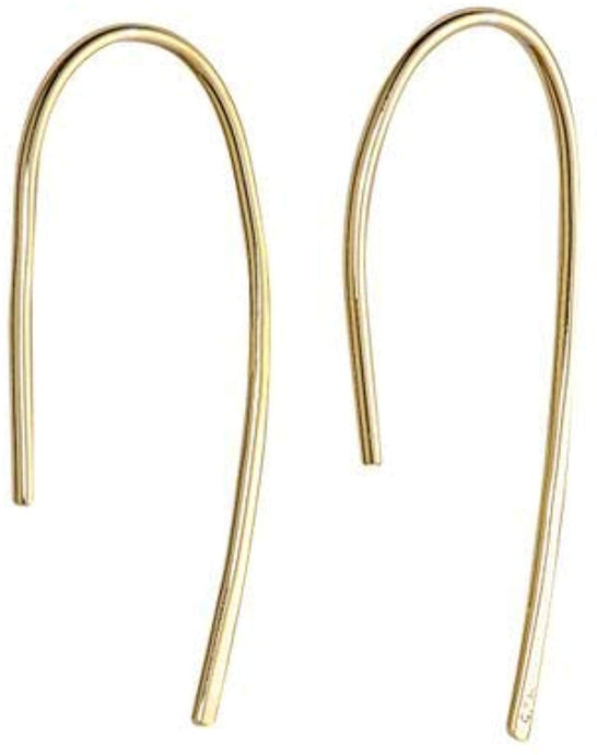 Simple Wire Threader Earrings - Yellow Gold