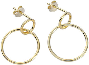 Intertwined Hoop Earrings - Yellow Gold