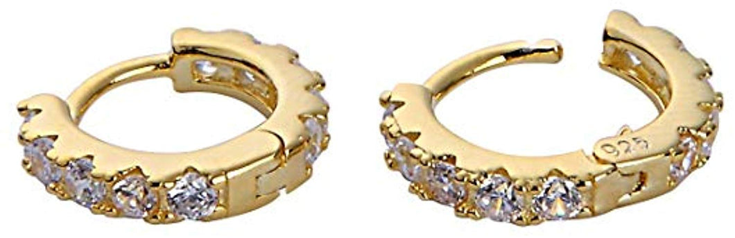 Classic Huggie Hoops - Yellow Gold
