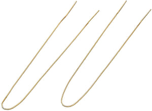 Chain & Simple Threader Earrings - Yellow Gold